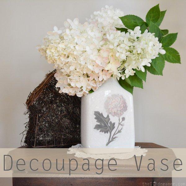 Decoupage-Vase