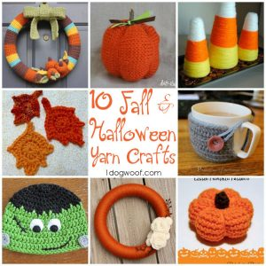 One Dog Woof: 10 Fall and Halloween Yarn Crafts