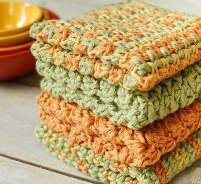 4 Free Crochet Dishcloth Patterns