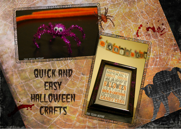 One Dog Woof: Handmade Halloween Frames and Pipe Cleaner Spiders from One Tough Mother