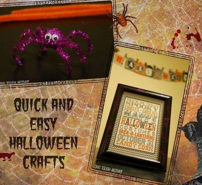 Halloween Frames and Pipe Cleaner Spiders