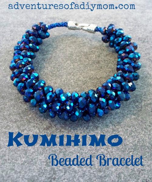 Kumihimo Beaded Bracelet (4a)