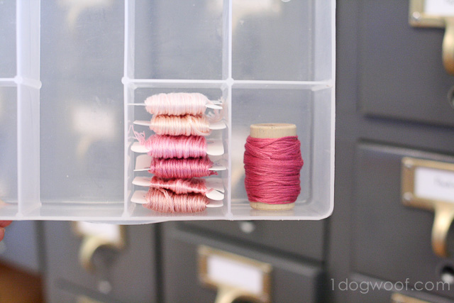 One Dog Woof: Wine Corks for embroidery thread storage