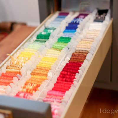 Embroidery Thread Storage and Organization