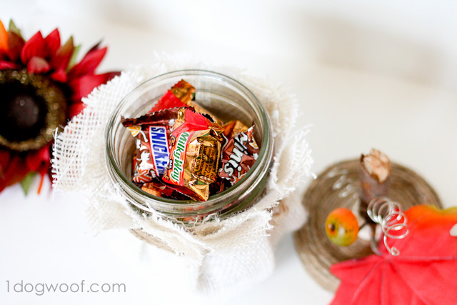 One Dog Woof: Mason Jar Pumpkin Candy Jar