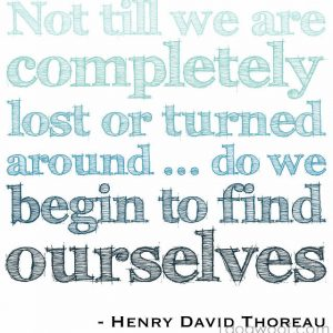One Dog Woof: Thoreau quote on Finding Ourselves