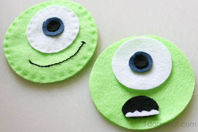 Create facial expressions from bits of felt