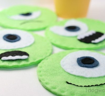 Monsters University Mike Wazowski Felt Coasters