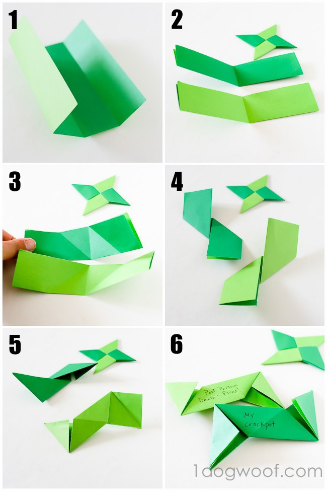 Origami Ninja Star Instructions