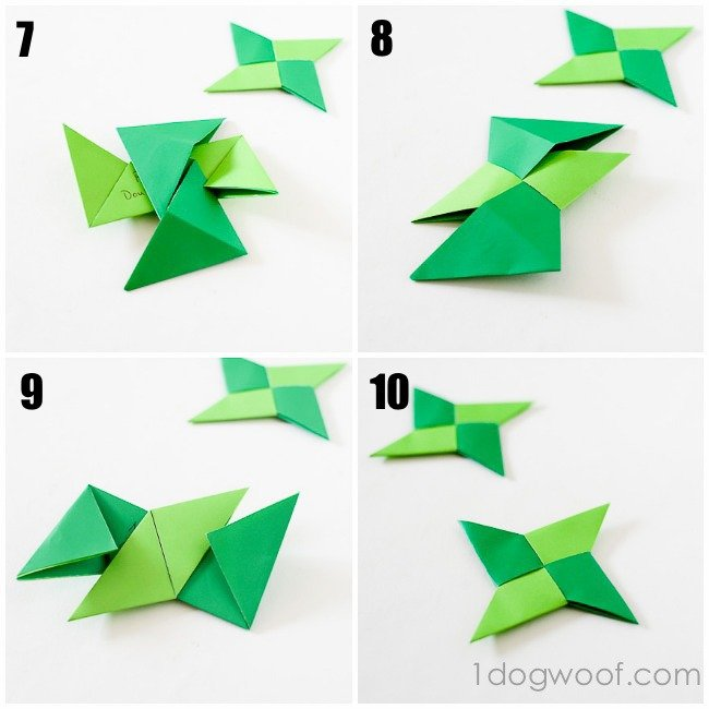 origami ninja star thankful ornaments one dog woof
