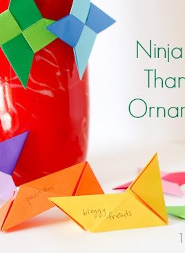 Origami Ninja Star Thankful Ornaments