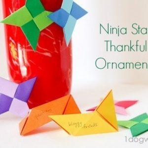 Ninja Star Thankful Ornaments | One Dog Woof