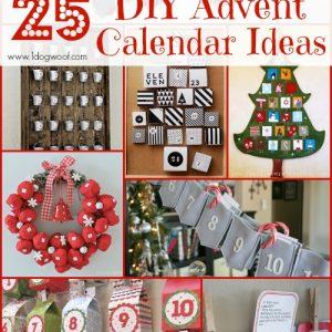 25 DIY Advent Calendar Ideas Roundup