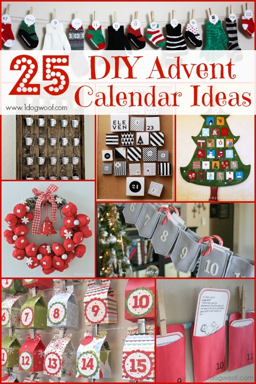 25 diy christmas advent calendar ideas one dog woof for Diy christmas advent calendar ideas