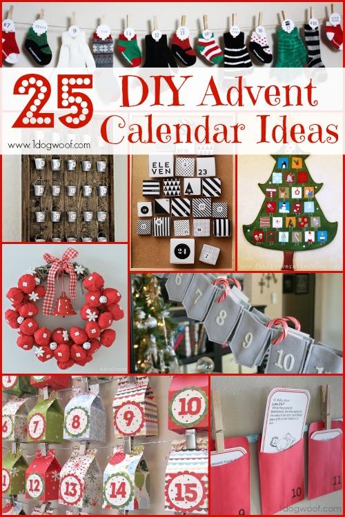 25 Diy Christmas Advent Calendar Ideas One Dog Woof