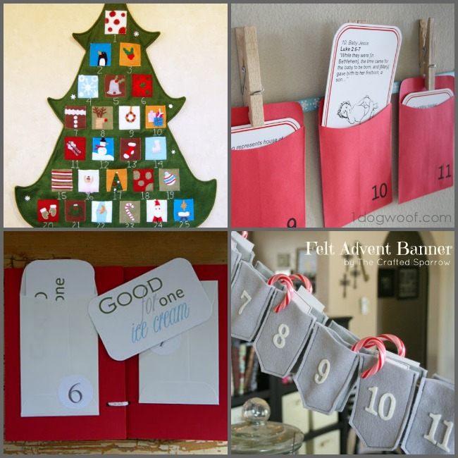 25 DIY Christmas Advent Calendar Ideas Roundup | One Dog Woof | #holidays #crafts #inspiration