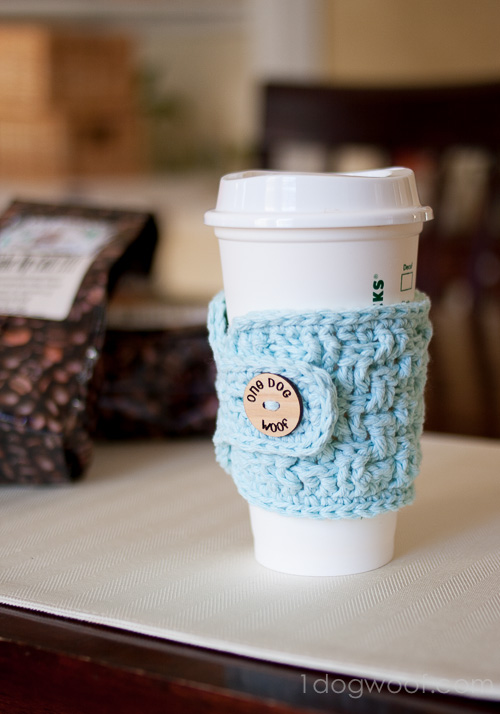 Basketweave Cup Cozy Crochet Pattern With Myfavoritebloggers One