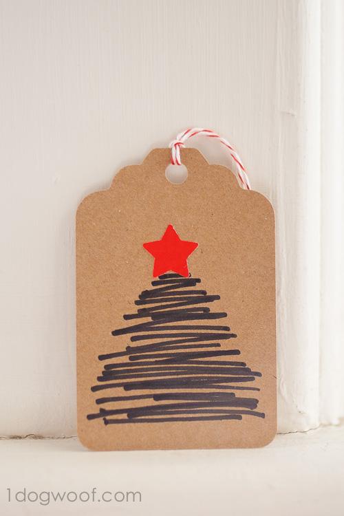 Homemade Christmas Gift Tags Day 12: Hand-drawn Christmas Tree
