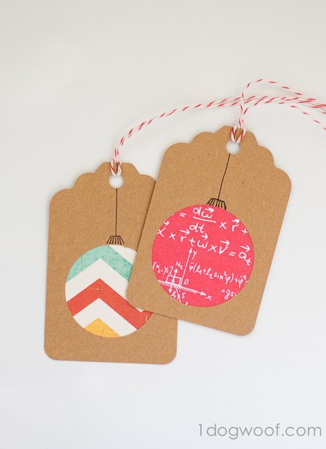 Homemade Christmas Gift Tags Day 2: Scrapbook Paper ...