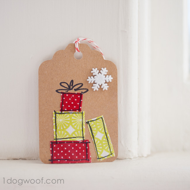 Homemade Gift Tags Day 11: Scrap Fabric Gift Tags