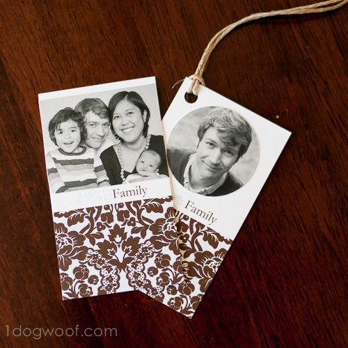 Customize gift tags with photos | www.1dogwoof.com