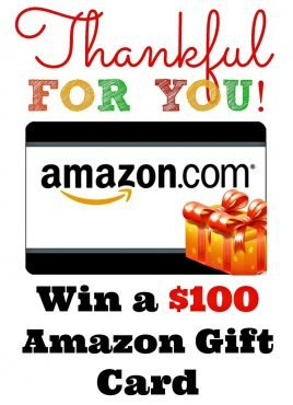 Thanksgiving $100 Amazon Gift Card Giveaway!