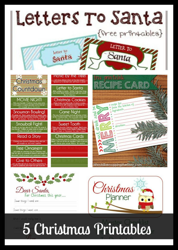 The Project Stash Link Party #28: 5 Christmas Printables