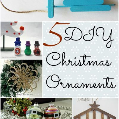 The Project Stash Link Party: 5 DIY Christmas Ornaments