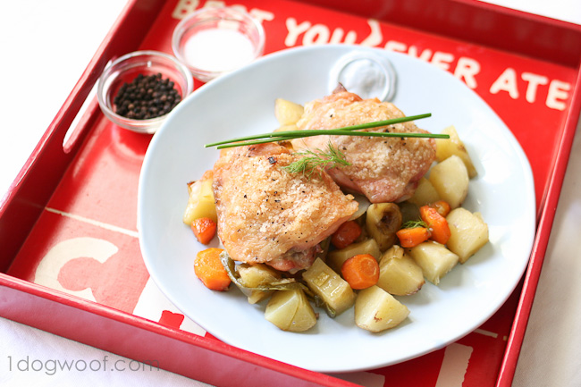 The Best and Easiest Roast Chicken Recipe Ever! - One Dog Woof