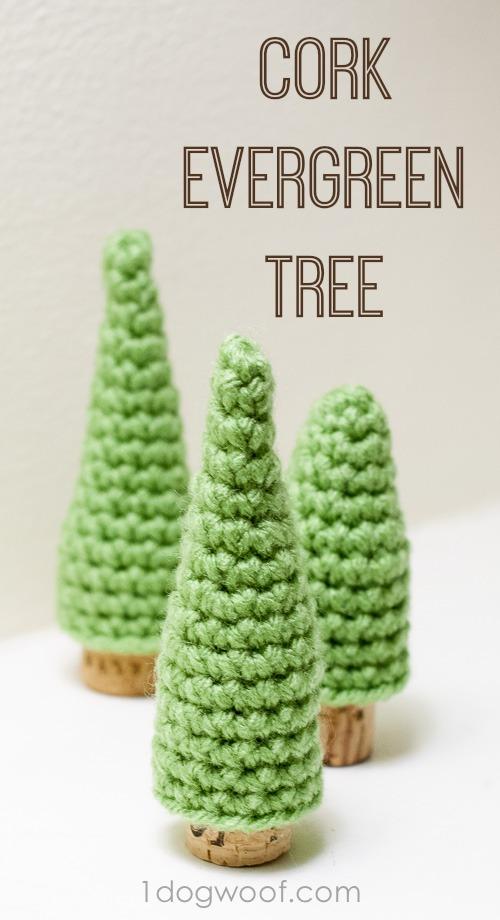 Cork Pine Tree Crochet Patterns One Dog Woof