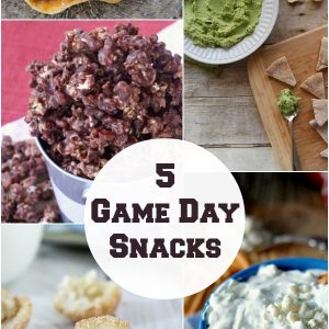 5 Game Day Snack recipes. www.1dogwoof.com