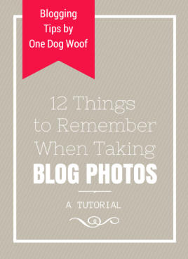 12 Things to Remember When Taking Blog Photos
