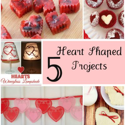 The Project Stash Link Party: 5 Heart Shaped Projects