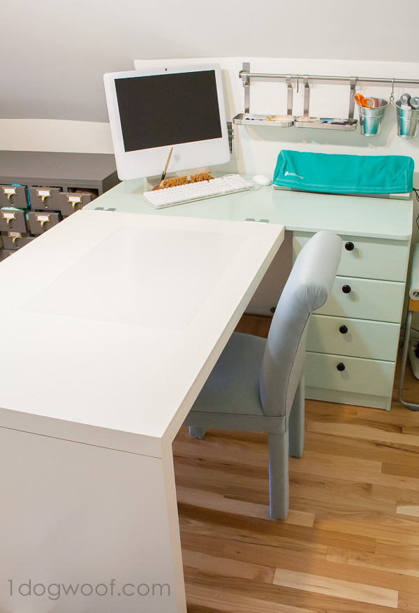 An Ikea Hack Craft Desk Makeover One Dog Woof