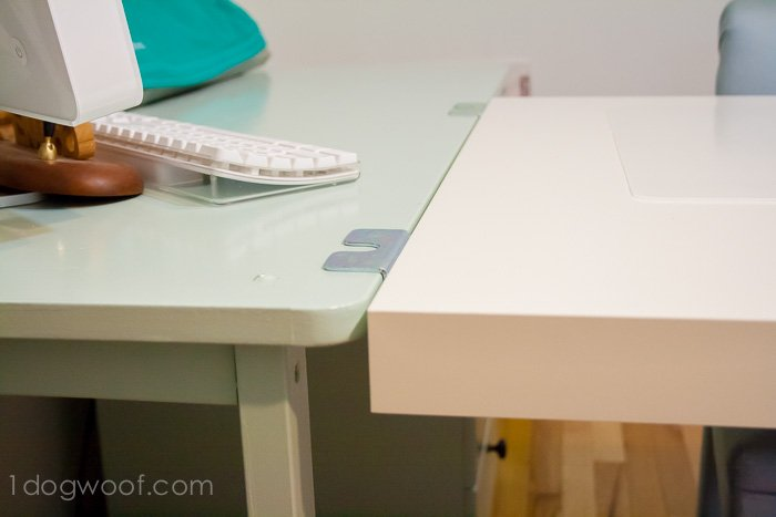 An Ikea Hack Craft Desk Makeover - One Dog Woof