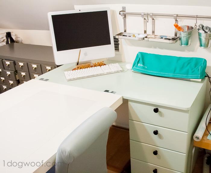 Ikea Hack Craft Desk Makeover