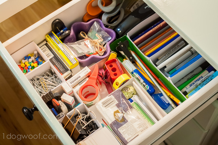 Organize your drawers with boxes cut from your Silhouette. www.1dogwoof.com