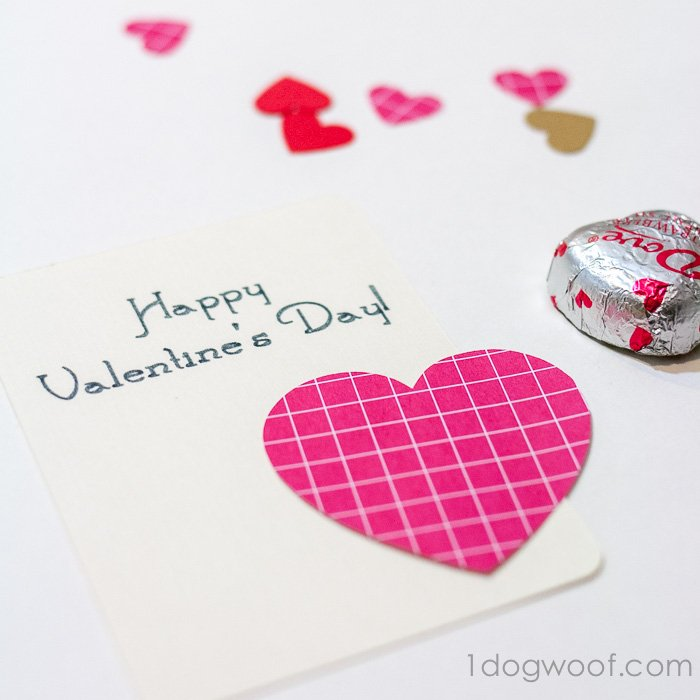Use a Silhouette Sketch pen to write out your message. Add a heart and a chocolate for a quick valentine!