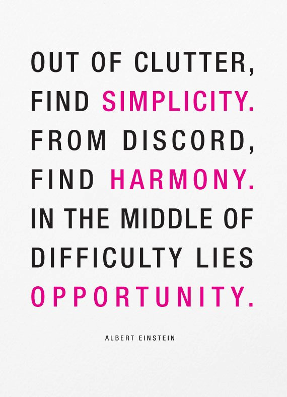 Out of clutter, find simplicity.  Blogging resolutions for 2014 at www.1dogwoof.com