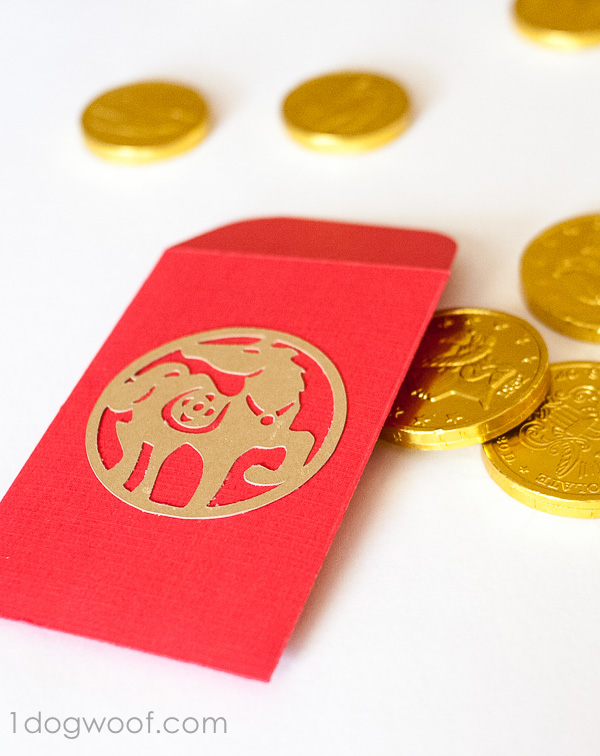 diy envelopes for new year one dog woof