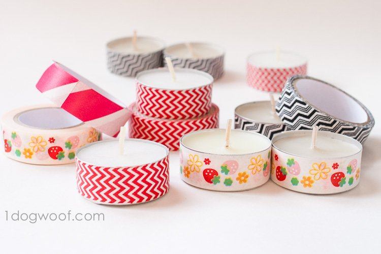 washi tape teal ights | www.1dogwoof.com