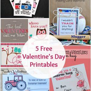 5 free valentine printables | www.1dogwoof.com