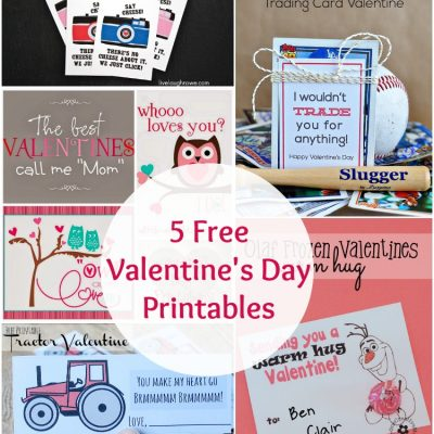 The Project Stash – 5 Valentine's Day Printables