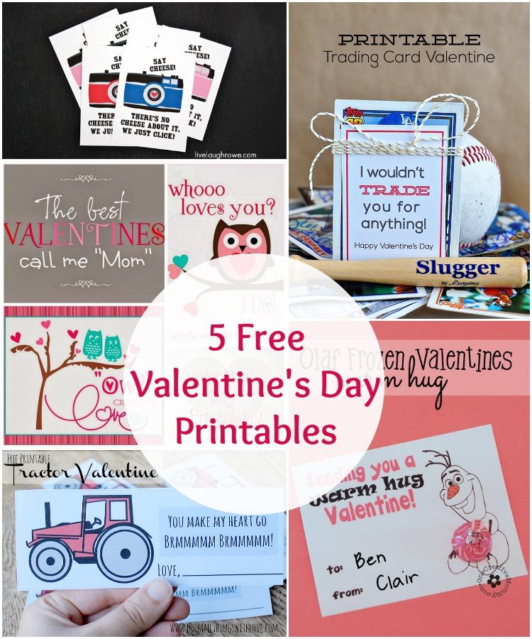 5 free valentine's day printables | www.1dogwoof.com