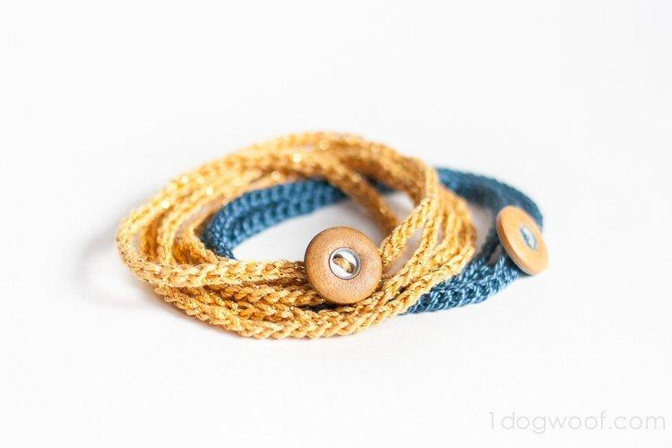 cCrochet Wrap Bracelet | www.1dogwoof.com