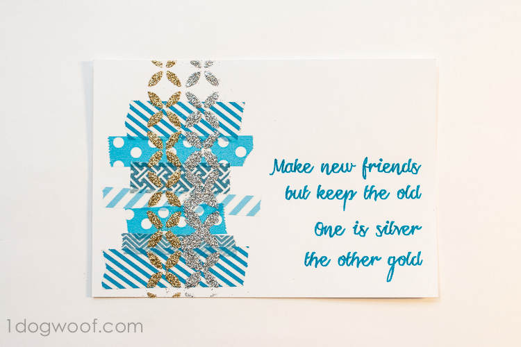 Greeting Card using Mod Podge Stencils and Podgeable Glitter