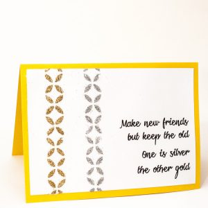 Mod Podge Glitter Stencil Greeting Card | www.1dogwoof.com