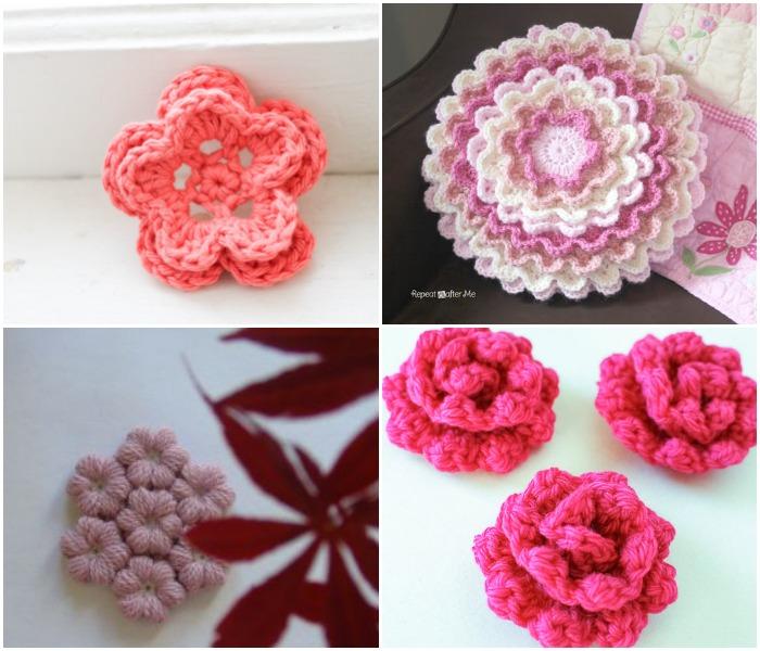 Crochet Flowers roundup | www.1dogwoof.com
