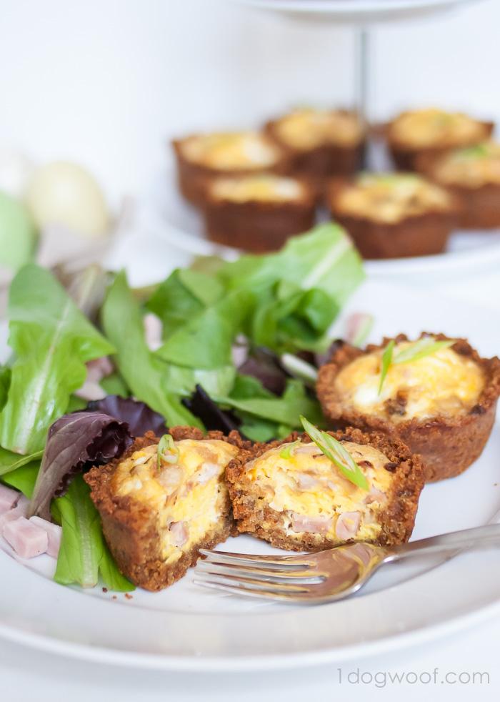 Mini Quiche with Grape-Nuts crust
