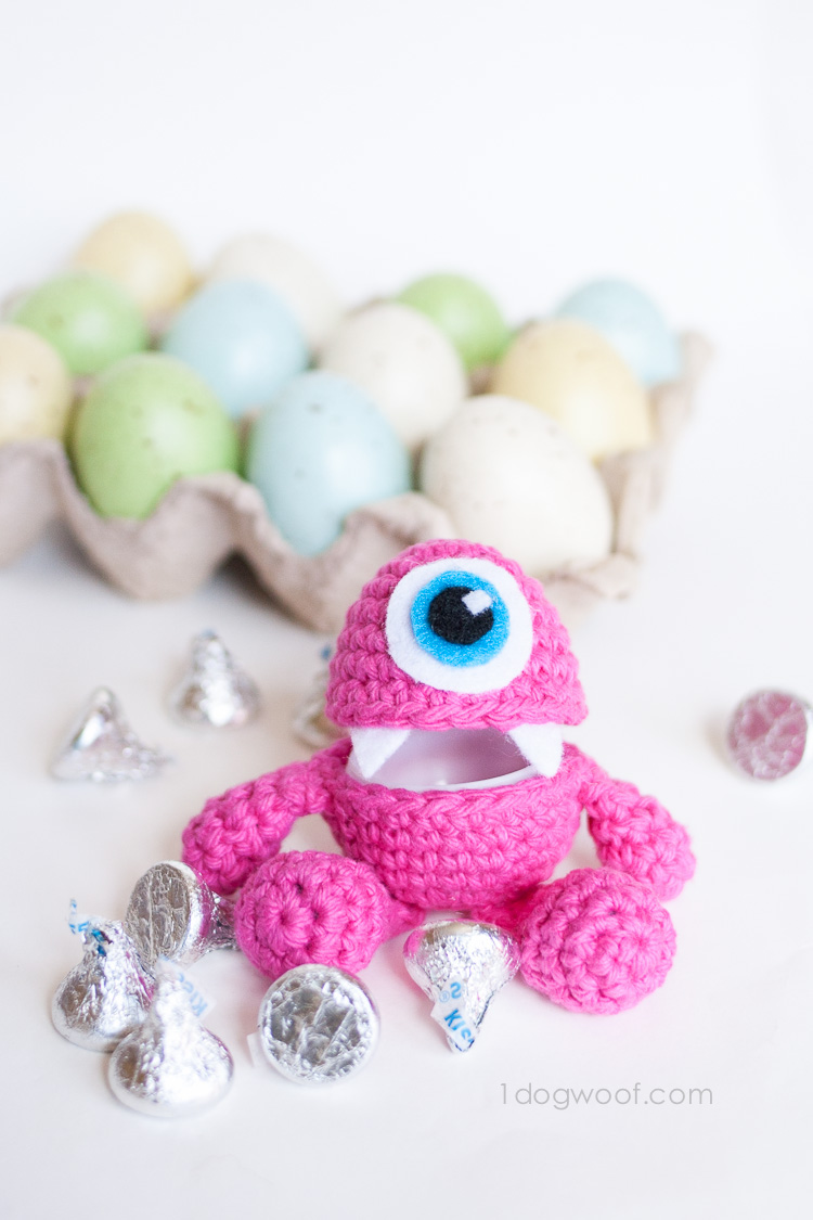 Crochet Patterns Easter : Little Monster Easter Egg Crochet Pattern www.1dogwoof.com